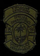 Guam Police K-9 Explosive Detection Special Operations Patch L-1