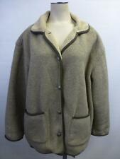 womens Eddie Bauer metal buttons super soft Fleece Jacket coat ski bunny Medium