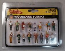 Woodland Scenics Figures - HO Scale 16 People - Variety Pack #1958 Model Trains