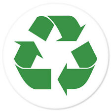 """Recycle SIGN Green sticker decal circle 4"""" x 4"""""""