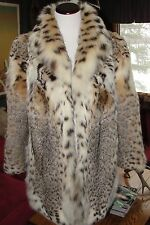 Amazing Condition Montana Lynx Fur Swing Coat /Jacket SIZE- Small / Med.