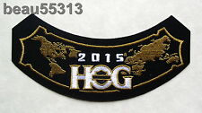 HARLEY DAVIDSON OWNERS GROUP HOG H.O.G. 2015 WORLD ROCKER VEST JACKET PATCH