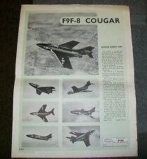 GRUMMAN F9F-8 COUGAR AIRCRAFT AIR DIAGRAM AD 6486  AUGUST 1955 RECOGNITION