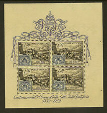 VATICAN :1952 Centenary of the First Papal Stamp Miniature Sheet SG MS176a unm