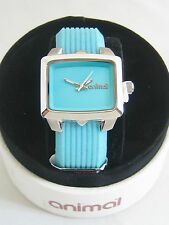 ANIMAL WATCH WOMENS EURUS STAINLESS STEEL BLUEBIRD SILICONE WWSV19 - B43 BNIB