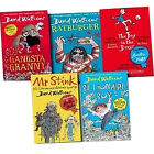 David Walliams 5 Books Set Collection, Ratburger, Gangsta Granny, Mr Stink, Bill
