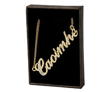 """Name Necklace """"CAOIMHE"""" - 18ct Gold Plated - Swarovski Elements - Custom Gifts"""