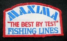 "MAXIMA FISHING LINES SEW ON ONLY PATCH THE BEST BY TEST ANGLER 4"" x 2 1/4"""