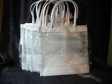 Mary Kay Clear and white organza gift bags set of 5.