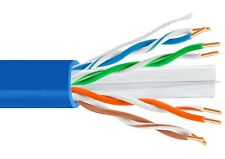 100ft Plenum Cat6 23AWG solid copper Shireen CMP Ethernet bulk cable Blue