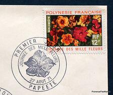 Polynésie Française FDC Enveloppe  1er jour  MILLE FLEURS     HA25