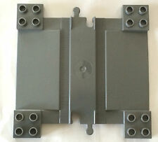 *NEW* 1 Piece Lego DUPLO TRAIN TRACK with RAMPS for CAR CROSSING Dark Gray 6391