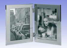 "Stainless Steel Double Portrait Photo Frame 2x(6x8"")  (Starlett NRRW 3198-68HD)"