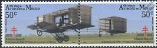 1910 Alberto Braniff VOISIN Aircraft Stamps (100 Years of Aviation in Mexico)
