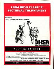 High School Basketball Program Illinois 1994 Tournament Boys AA