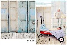3x5ft Vinile Fotografia Sfondo Pavimento legno bambino a tema Scenario Studio
