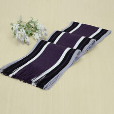 Fashion Cashmere Shawl Wrap Winter Warm Men's Fringe Striped Tassel Long Scarf