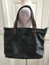 Jimmy Choo Black /brown Leather Tote Shopper Clean No Scratches