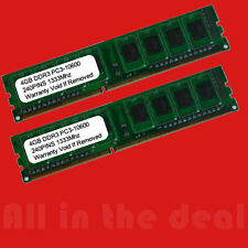 8GB 2x 4GB PC3-10600 DDR3 1333MHz DESKTOP Memory Non ECC 1333 Low Density RAM