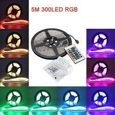 RGB 5050 SMD 5M 300 LED RGB Streifen wasserdichte Licht 12V+24 Schluessel J5