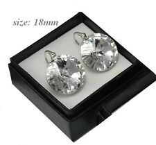 HUGE Crystal 18mm Rivoli - Sterling Silver Earrings made with Swarovski Crystals