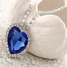Heart Of The Ocean Beauty Necklace Blue Valentine Pendant Gifts For Lover Gift