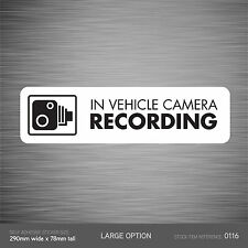 SKU116 - In Vehicle Camera Recording Car Sign Sticker - CCTV - Go Pro - Dashcam