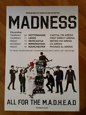 MADNESS: 2014 UK Flyer, 5.12x8.2, Collectible, Perfect For Framing
