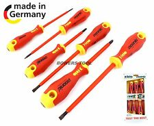 Felo 6pc Insulated Electricians Screwdriver Set Cushion Grip 400 Series Germany