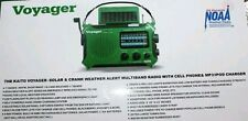 Kaito Voyager KA500 - Green Solar AM/FM/SW NOAA Weather Alert Emergency Radio