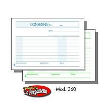 BLOCCO BUONI DI CONSEGNA - 2 pz. - f.to 16,5x12 2 copie autoric. BM