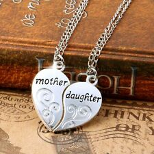 New Nice mother&daughter Heart Charms 42cm  Necklace Set Friendship Jewlery Gift