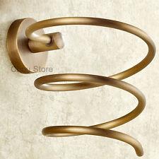 Wall Mount Hair Dryer Holder Antique Brass  Spiral Blow Dryer Stand Storage M053