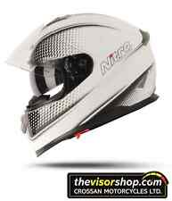 "NITRO NP1100F ""Synapse"" DVS Full Face Motorcycle Helmet - White/Black - XXL 2XL"