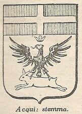 A4813 Stemma della Città di Acqui Terme - Stampa Antica del 1953