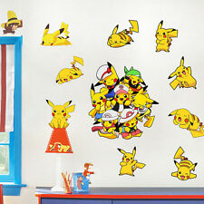 Pokemon Go Wall Sticker Removable Pikachu Decals for Kids Room Decor Art Mural