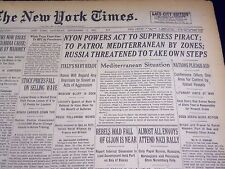1937 SEPT 11 NEW YORK TIMES - NYON POWERS ACT TO SUPPRESS PIRACY - NT 430