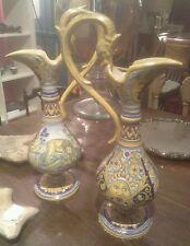 Coppia di anfore vasi deruta grifoni  integri ceramica no capodimonte molaroni