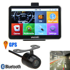 "5"" Truck&Car GPS Navigation System 4G HD AV+ Wireless Reverse Backup Camera New"