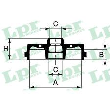 Bremstrommel, 1 Stück LPR 7D0242
