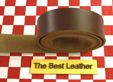 "HORWEEN BROWN CHROMEXCEL LEATHER 10 oz 51"" x 1.75"" FOR BELT & STRAP NAT. QLTY."