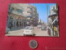 TARJETA POSTAL POST CARD GAZA PALESTINA OMAR EL MOKTHAR STREET VER FOTO/S Y DESC