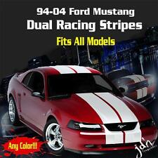 94-04 Ford Mustang Dual Racing Rally Stripes Vinyl Decal Sticker GT 5.0 Cobra