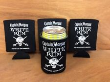 Captain Morgan White Rum Beer Koozies Can Cooler Coozie - New - 4 Pk - Free Ship
