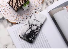Simple White Granite Marble Glossy Soft Gel Case Cover for iPhone 6 6S 7 Plus