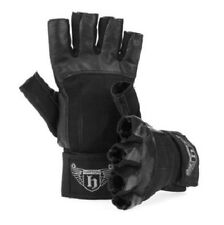 Hatton Boxing BLACK Leather WEIGHT TRAINING GLOVES Large