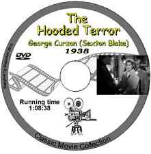 The Hooded Terror 1938,George Curzon as Sexton Blake, British Movie on DVD