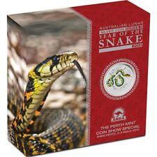 Perth Mint Australia $2 Colored Snake Perth ANDA Show 2013 2 oz .999 Silver Coin