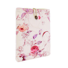 """TaylorHe Padded Canvas iPad Air 10"""" Pouch Sleeve Case Vintage Pink Floral 169"""
