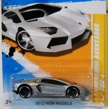 2012 Hot Wheels NEW MODELS #37/50 * '12 LAMBORGHINI AVENTADOR * SILVER VARIANT